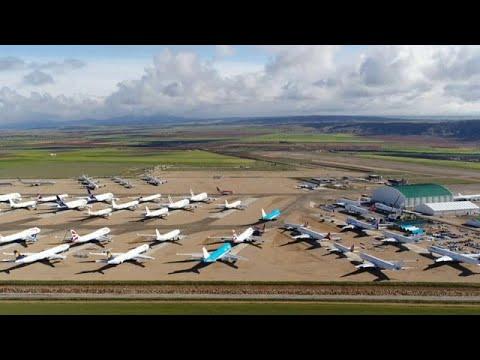 Aufschwung dank Corona: Der Flughafenparkplatz in Teruel