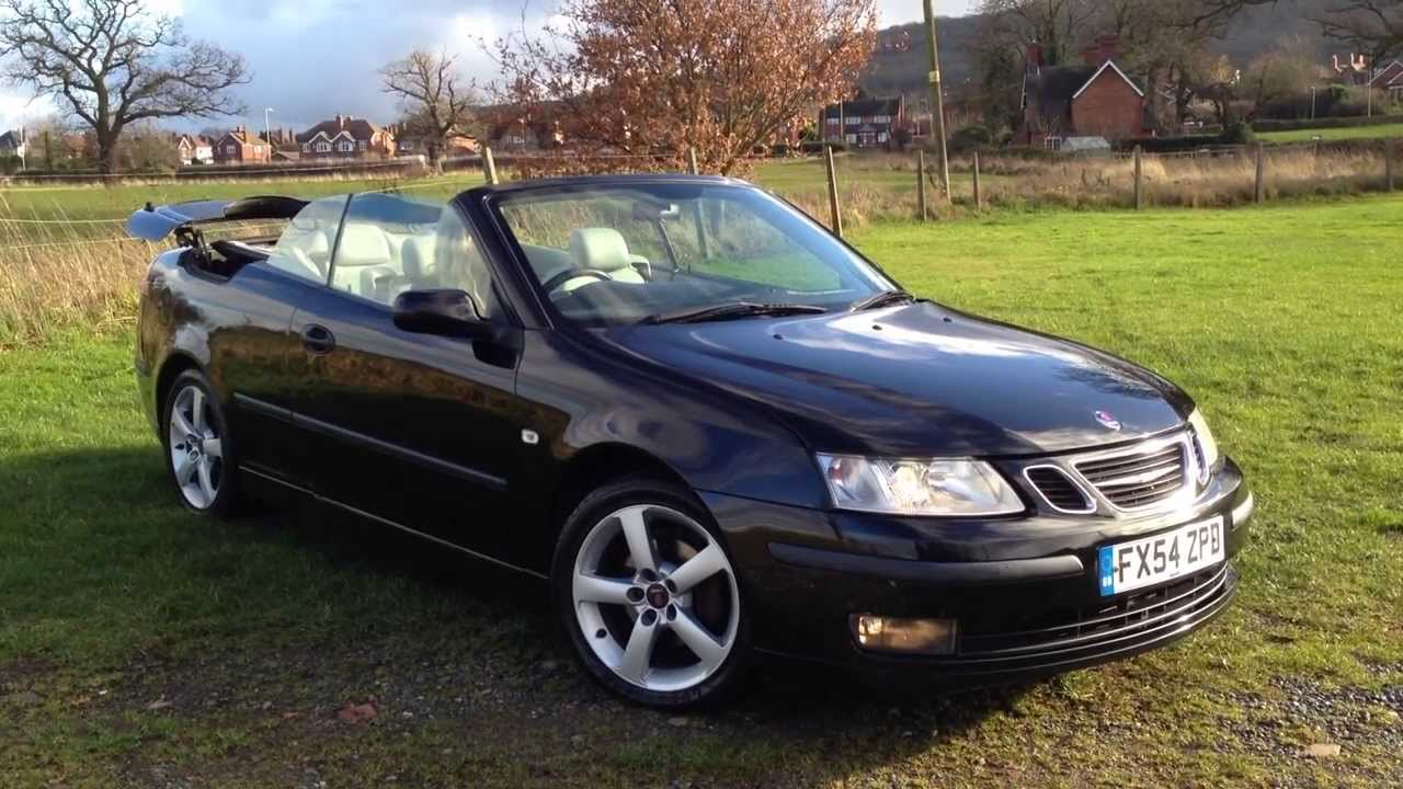 for sale saab 9 3 vector 175 bhp cabriolet convertible black updated youtube. Black Bedroom Furniture Sets. Home Design Ideas