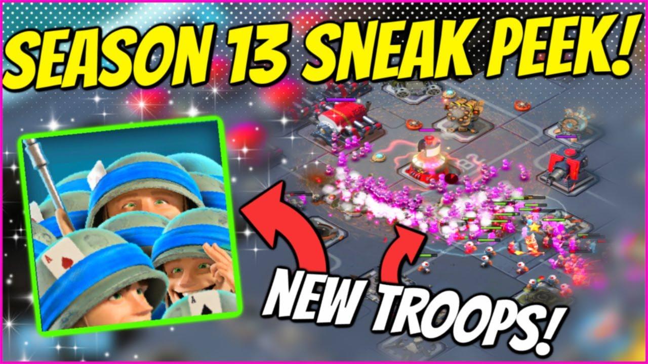 SEASON 13 IS INSANE! SNEAK PEEK & NEW TROOPS! // Boom Beach Warships