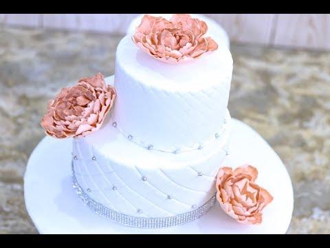 fondant-2-tier-wedding-cake
