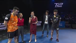 T2ダイヤモンド マレーシア 男子シングルス1回戦 黃鎮廷vs張本智和 試合終了インタビュー