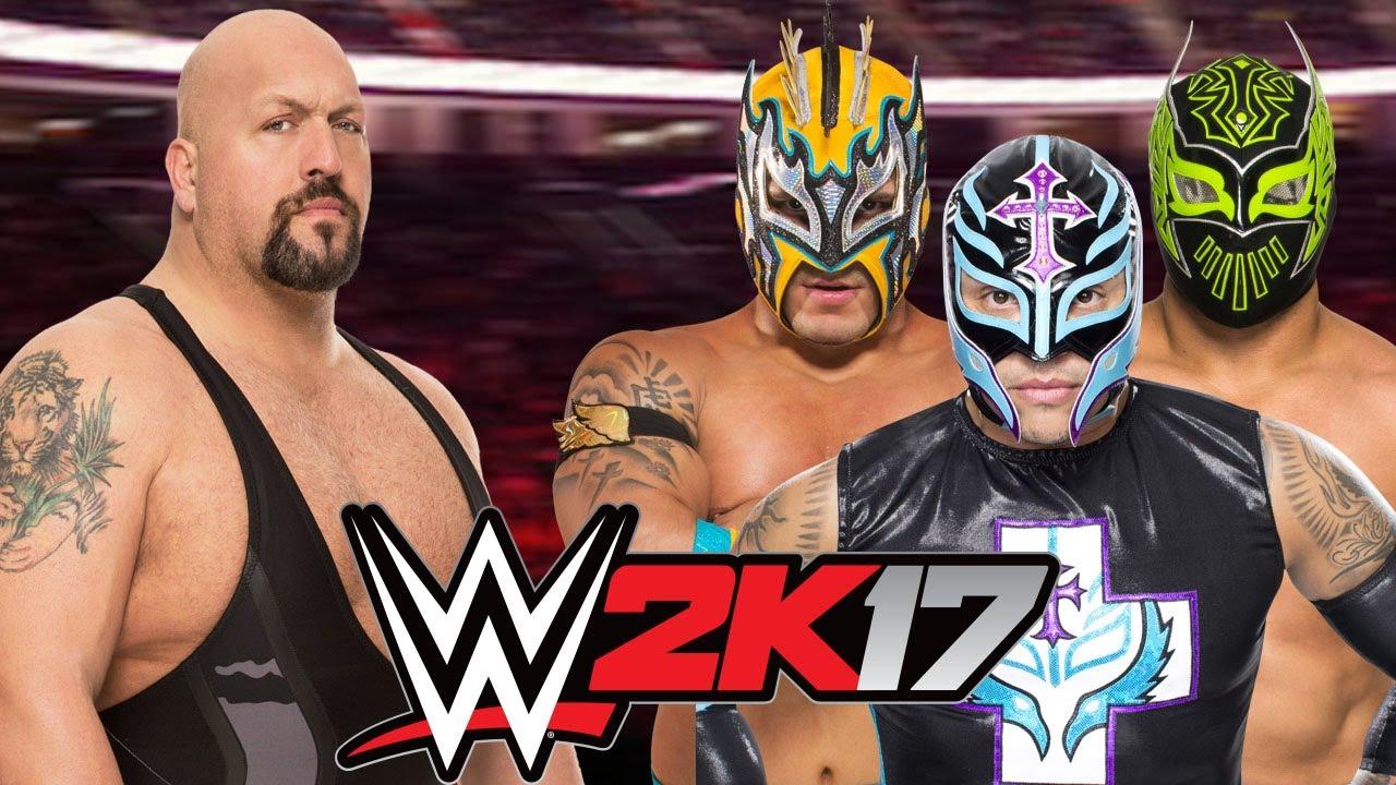 Big Show Vs Kalisto Sin Cara And Rey Mysterio Youtube
