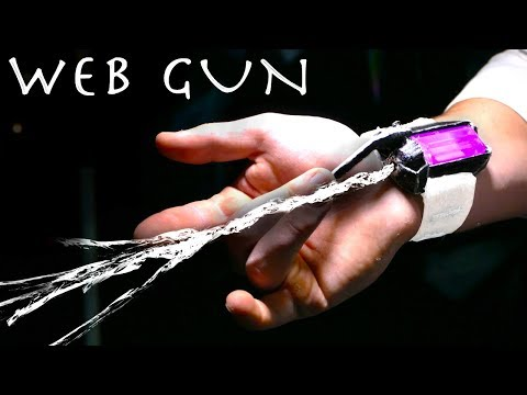 Make a SPIDER-MAN Web Shooter That Actually Shoots Real Webs!!!