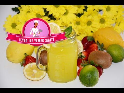 Limonata Tarifi - 1 Limon ve 1 Portakal ile 3 Litre Limonata - Rezept für selbstgemachte Limonade