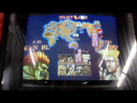 Scrambled graphics on my street fighter arcade..