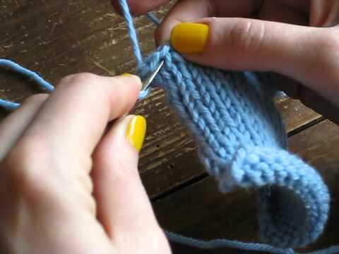 tricot boutonniere en ecartant les mailles