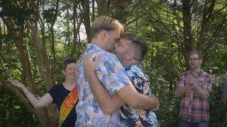 Matt & Dan's Poolside Backyard Wedding 🏝🌺
