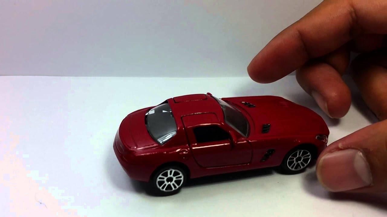 Review majorette mercedes benz sls toy car die cast for Mercedes benz toy car