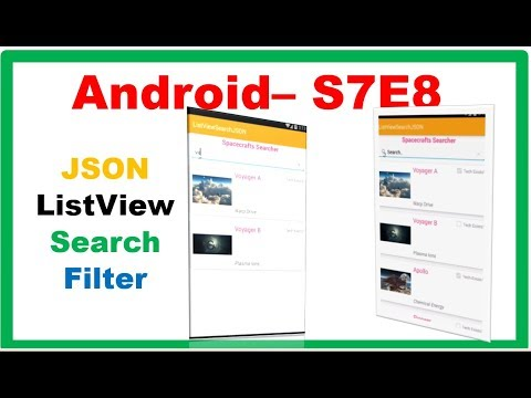 Android S7E8 : Search/Filter JSON with Images Text  - ListView