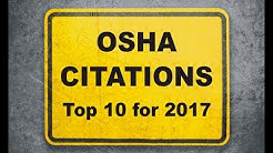 OSHA Citations - Top 10 for 2017