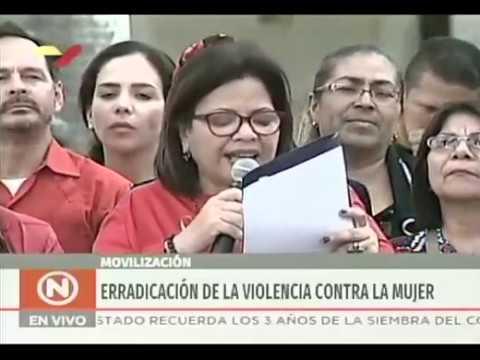 Discursos en la marcha del PSUV por el Día para la Erradicación de la Violencia contra la mujer