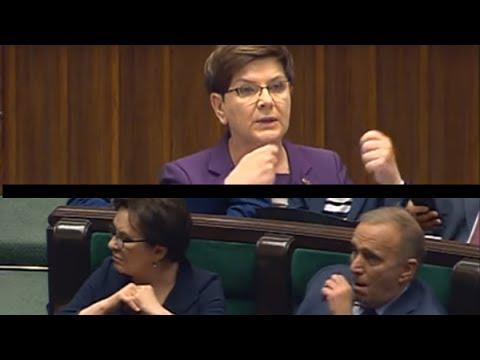 Premier Szydło w obronie szefa MSWiA Mariusza Błaszczaka (wotum nieufności)