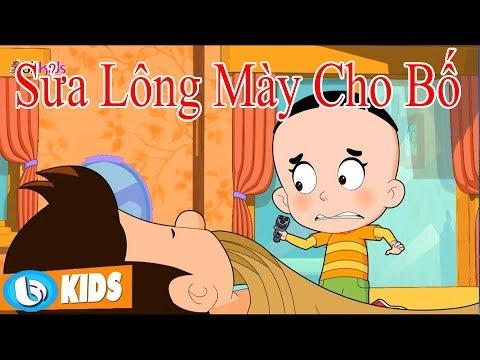 Sửa Lông Mày Cho Bố | Hoạt Hình Vui Nhộn Bố Đầu Nhỏ Con Đâu To | Phim Hoạt Hình Hay Nhất 2018