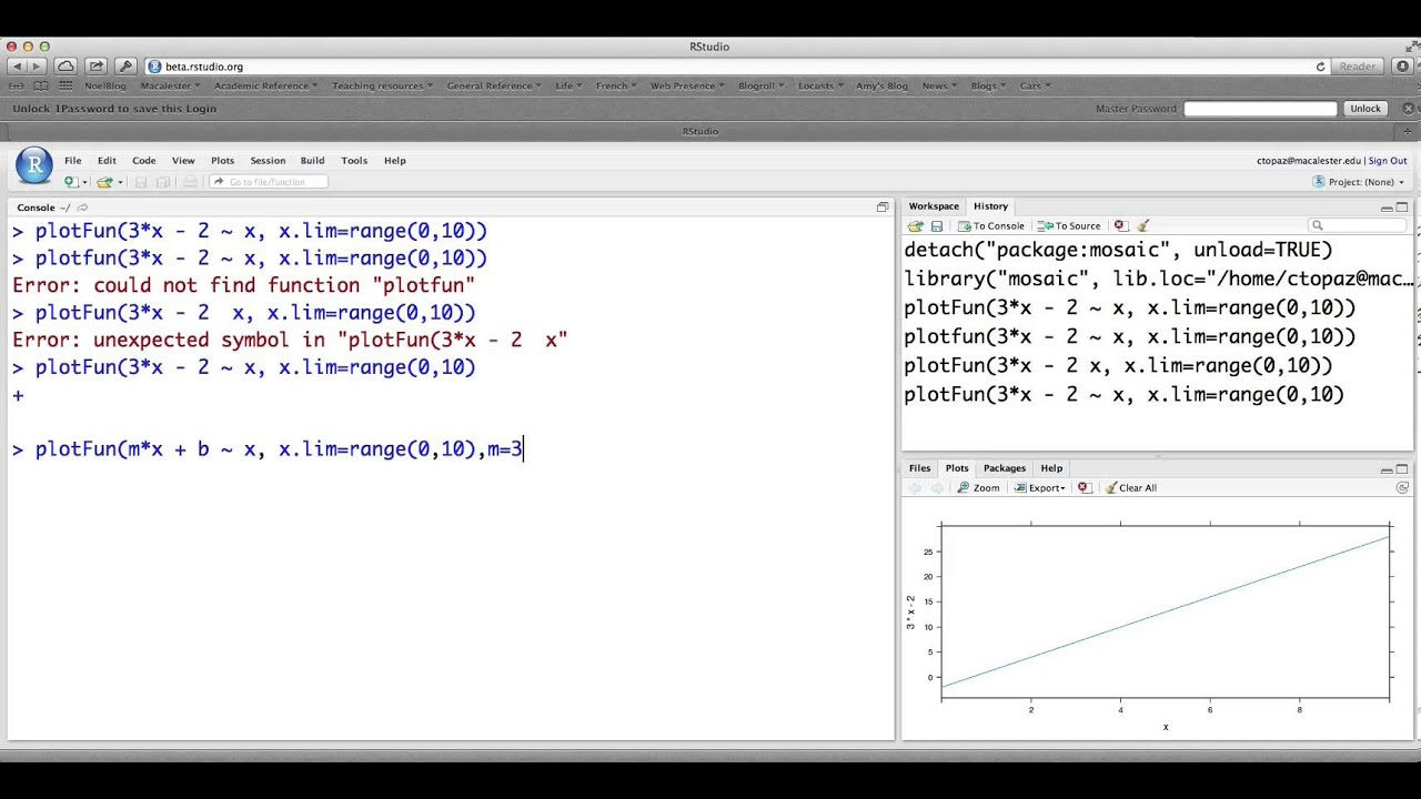 Creating and Graphing Mathematical Functions in R