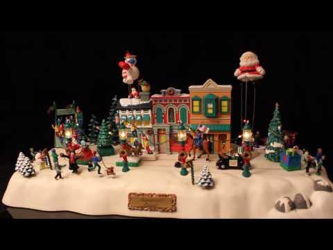 1997 Trendmasters Mainstreet Parade Animated Christmas Village Musical