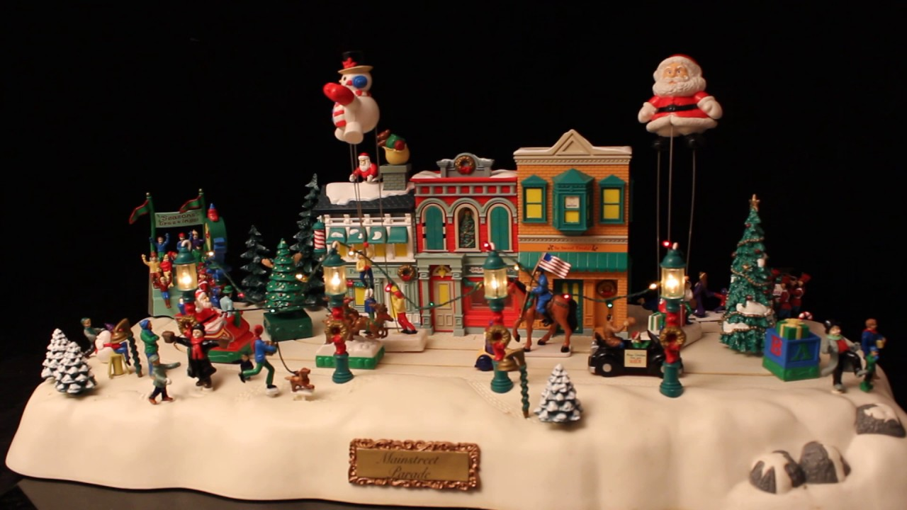 1997 trendmasters mainstreet parade animated christmas village musical - Animated Christmas Village