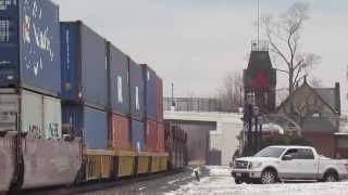 More CSX & NS Intermodal Trains in Berea OH