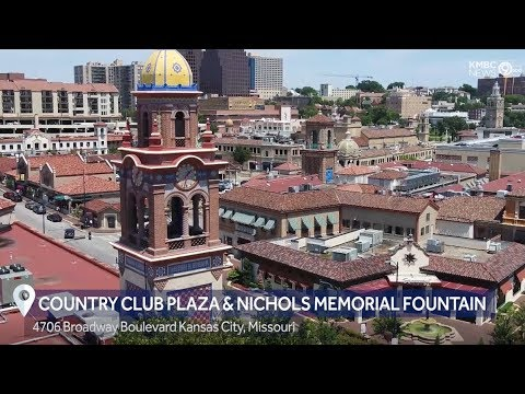 Droning KC: Country Club Plaza & Nichols Memorial Fountain