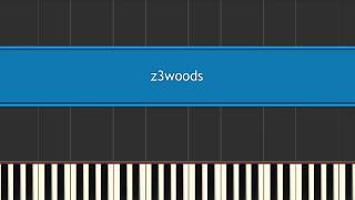 the legend of zelda - a link to the past - woods theme - synthesia