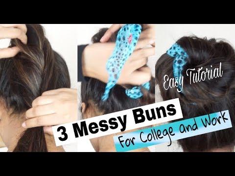 Messy Bun Hairstyles| 3 Easy Methods | Shweta Makeup&Beauty