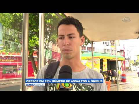 """Band Cidade - """"Cresce em 25% número de assaltos a ônibus"""""""