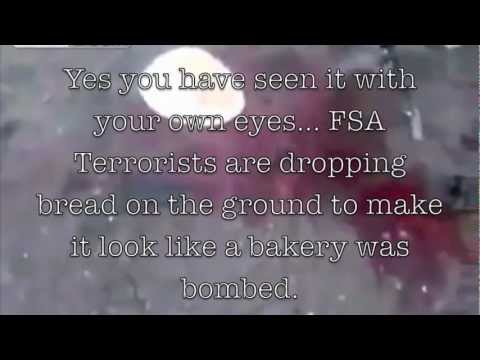 Syria Bakery Bombing? - FSA Terrorists Laying Bread on Ground to Justify Lies