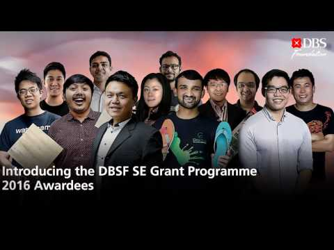 DBS Foundation Grant Awardees 2016 are here!
