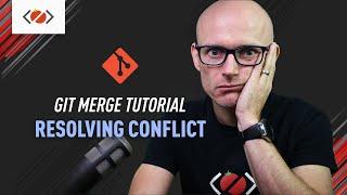 How to resolve meŗge conflicts in Git