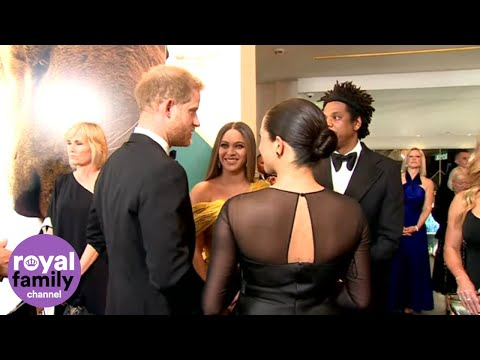 &39;We Love You Guys&39;: Beyoncé Tells Duke and Duchess of Sussex at Lion King Premiere