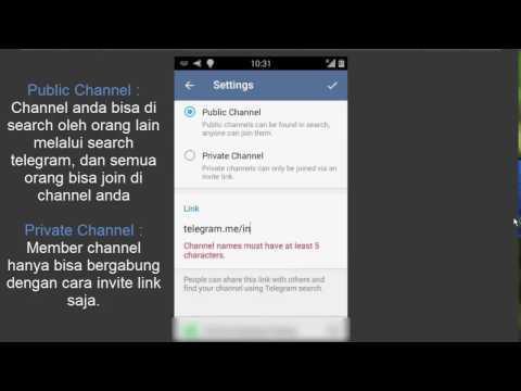 Cara Membuat Channel Telegram Di Android