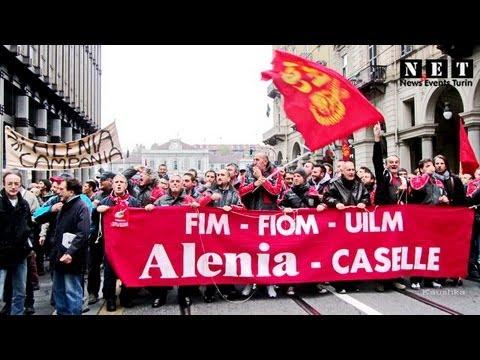 Manifestazione Alenia Aeronautica a Torino!