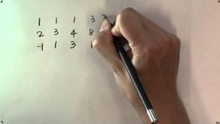 عندما هو المتجه b تركيبة خطية من ناقلات v1, v2, v3 و? على سبيل المثال.