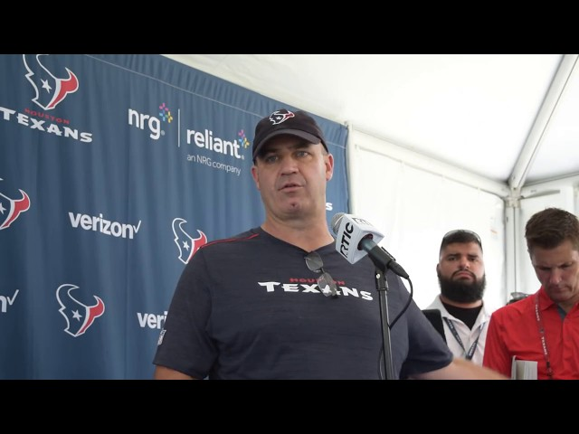 Bill O'Brien Speaks to the media at Houston Texans Training Camp