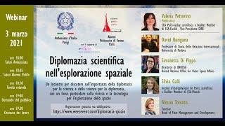 Diplomazia scientifica nell'esplorazione spaziale - Webinaire -  3 marzo 2021