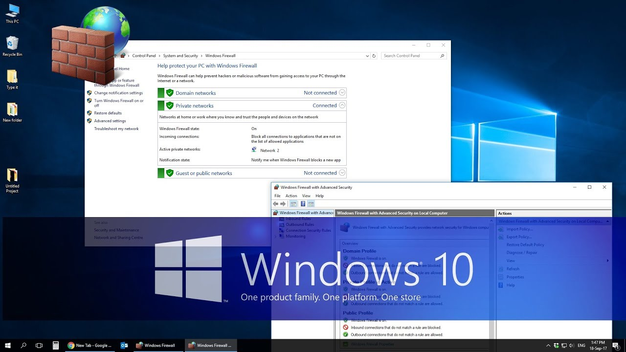how to block program from accessing internet windows 10