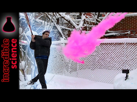 Download Youtube: Playing Baseball with EXPLODING ORBEEZ and Colored Powder Run at 5000FPS!!