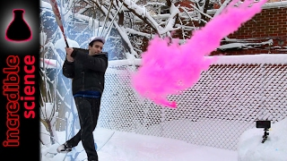 Playing Baseball with EXPLODING ORBEEZ and Colored Powder Run at 5000FPS!!