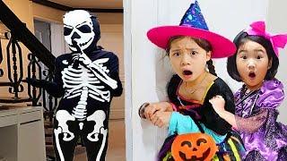 Boram et Eunbyeol jouent Halloween Trick or Treat