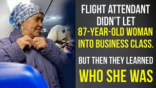 Flight attendant didn't let 87yearold woman into business class. But then they learned who she was