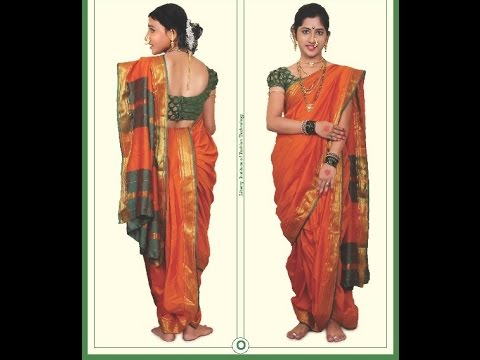 How to make Bhramani  saree (Maharashtrian) Nauwari