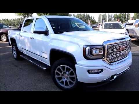 Gmc Sierra Denali For Sale >> 2017 White Frost Tricoat GMC Sierra Denali 1500 for sale in Medicine Hat, Alberta - YouTube