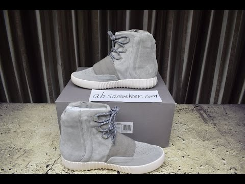 a4ce60f1e4367 Kanye West - Adidas Yeezy Boost 750 Grey Detail Review - YouTube