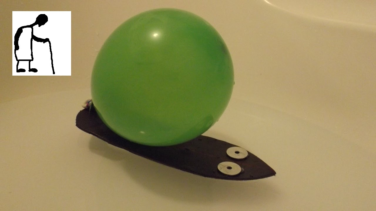 Simple Balloon Powered Boat Youtube