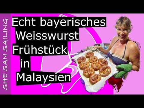 White sausage breakfast in Malaysia - original Bavarian!