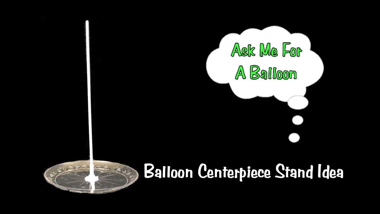 Balloon centerpiece stand idea tutorial youtube