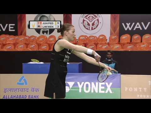 Syed Modi International Badminton C'ships 2017 | SF M1-WD | Juhl/Ped vs Lim/Yap