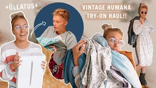 ÜLLATASIN KUTTI MACBOOKIGA + Vintage Humana Try-On Haul !!