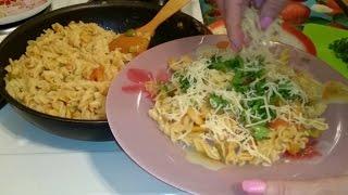 Как приготовить креветки жареные со спагетти Рецепт блюда вкусно домашние классический быстро видео(, 2015-04-28T12:06:11.000Z)