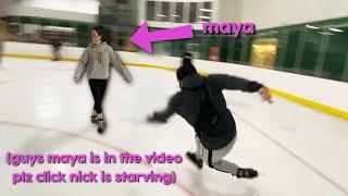 we went ice skating...