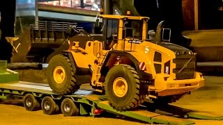 RC loader VOLVO delivery to the construction site! Heavy haulage!